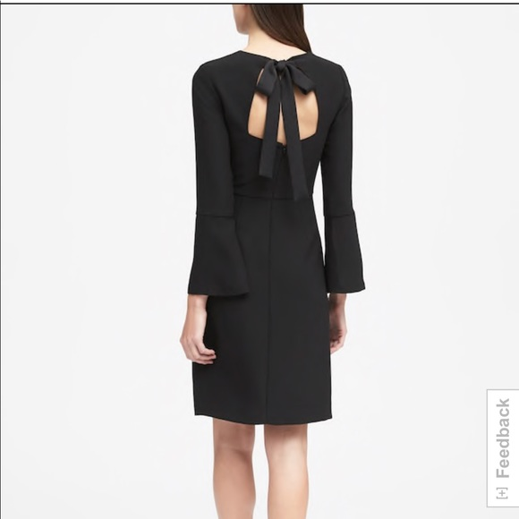 f174d61e74bd8 Banana Republic Black tie back dress NWT
